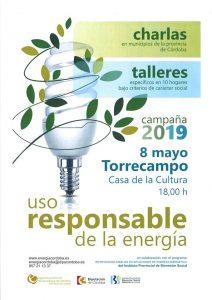 Charla: Uso responsable de la energía. Torrecampo @ Salón de Actos de la Casa de la Cultura