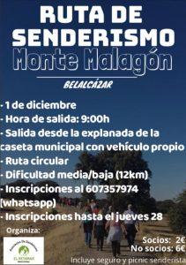 Ruta de Senderismo Monte Málaga. Belalcázar