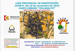 Liga provincial de orientación. Villaralto